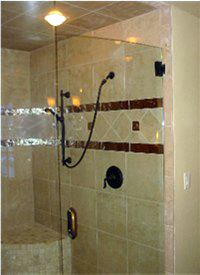 Porcelain bullnose tile in shower